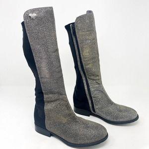 [Stuart Weitzman] Pyrite 50/50 Tall Boots Metallic